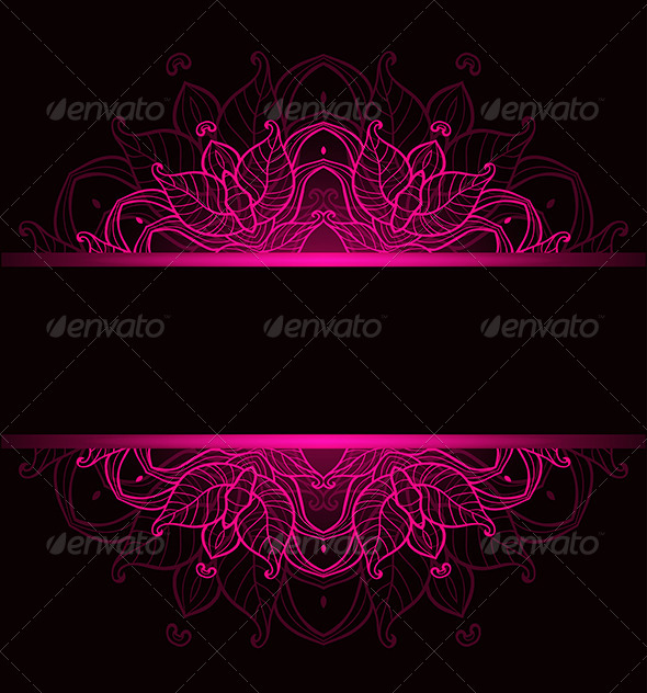 GraphicRiver Background with Pink Ornament 8067692
