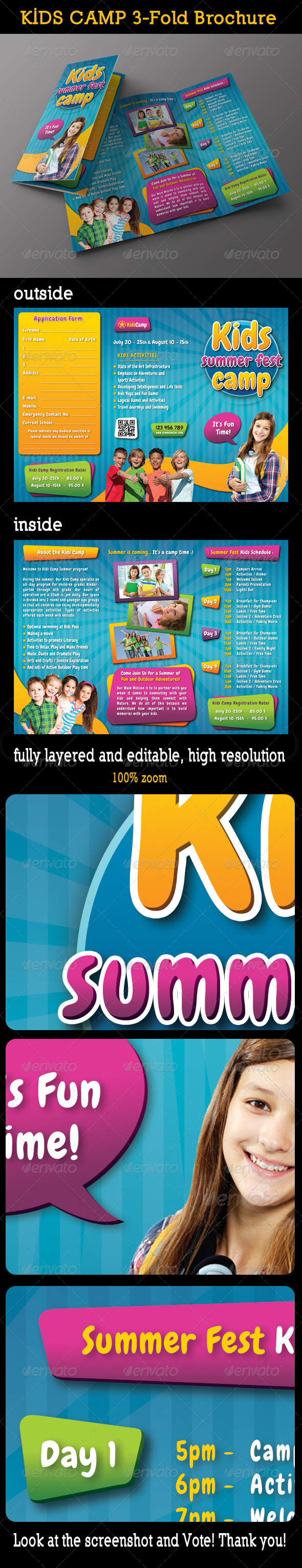 GraphicRiver Kids Summer Camp 3-Fold Brochure 01 8067850