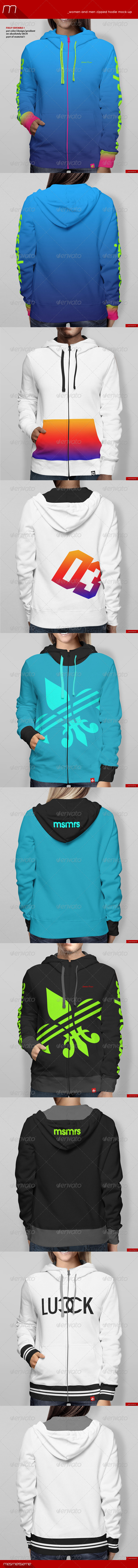 GraphicRiver Women and Men Zipped Hoodie Mock-up 8045030