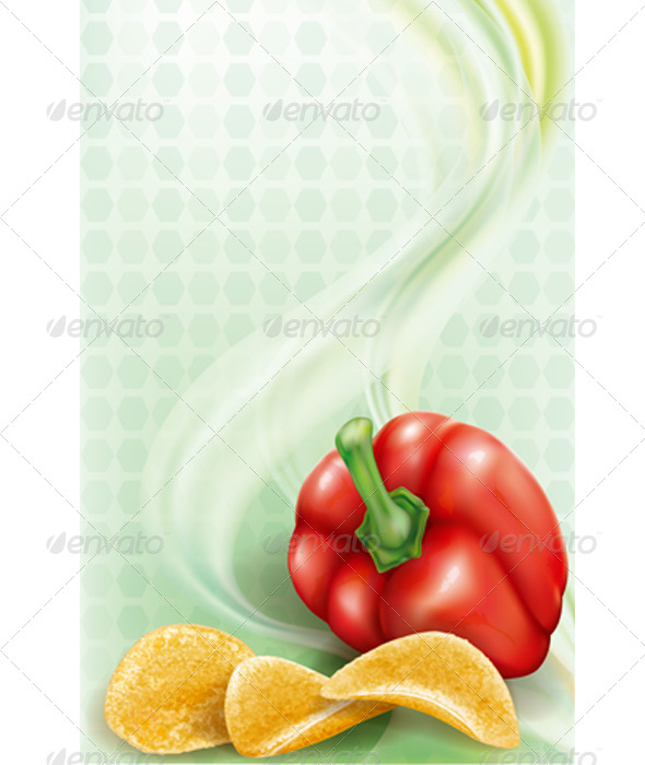 GraphicRiver Potato Chips and Sweet Paprika 8067903