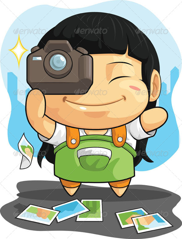 GraphicRiver Girl who Loves Photography 8067915