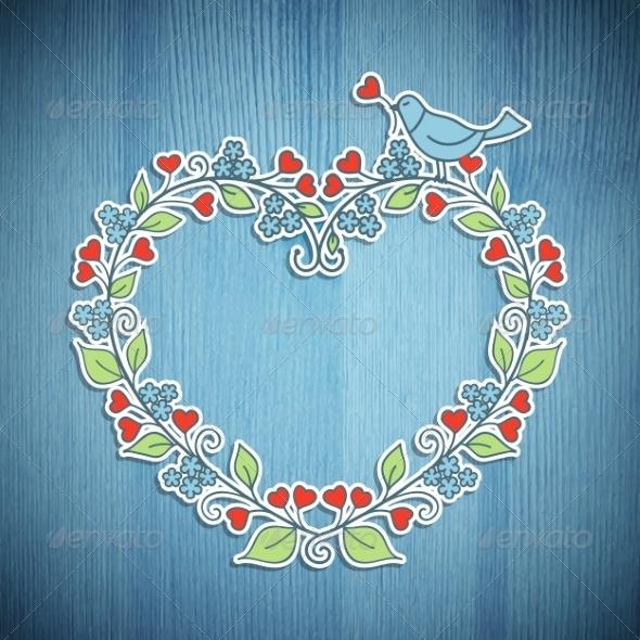 GraphicRiver Floral Frame 8067928