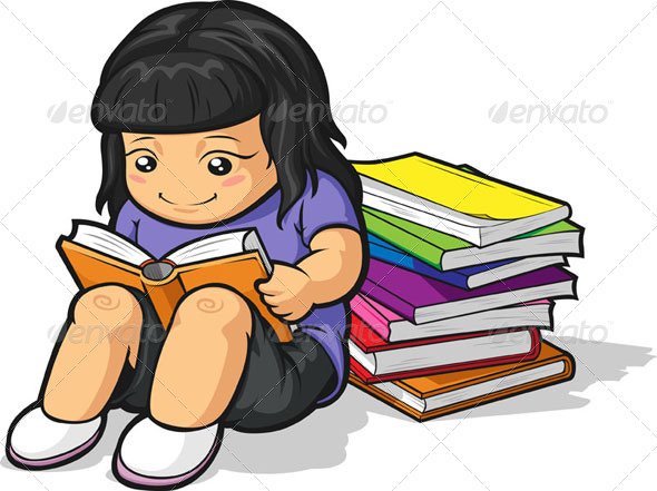 GraphicRiver Girl Studying 8067945