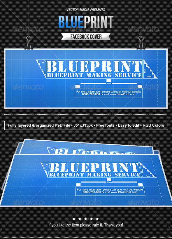 GraphicRiver Blueprint Facebook Cover 8068007
