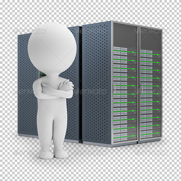 GraphicRiver 3D Small People Servers 8068056