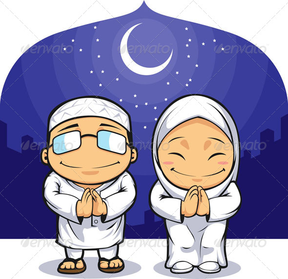 GraphicRiver Muslim Man & Woman Greeting 8068083