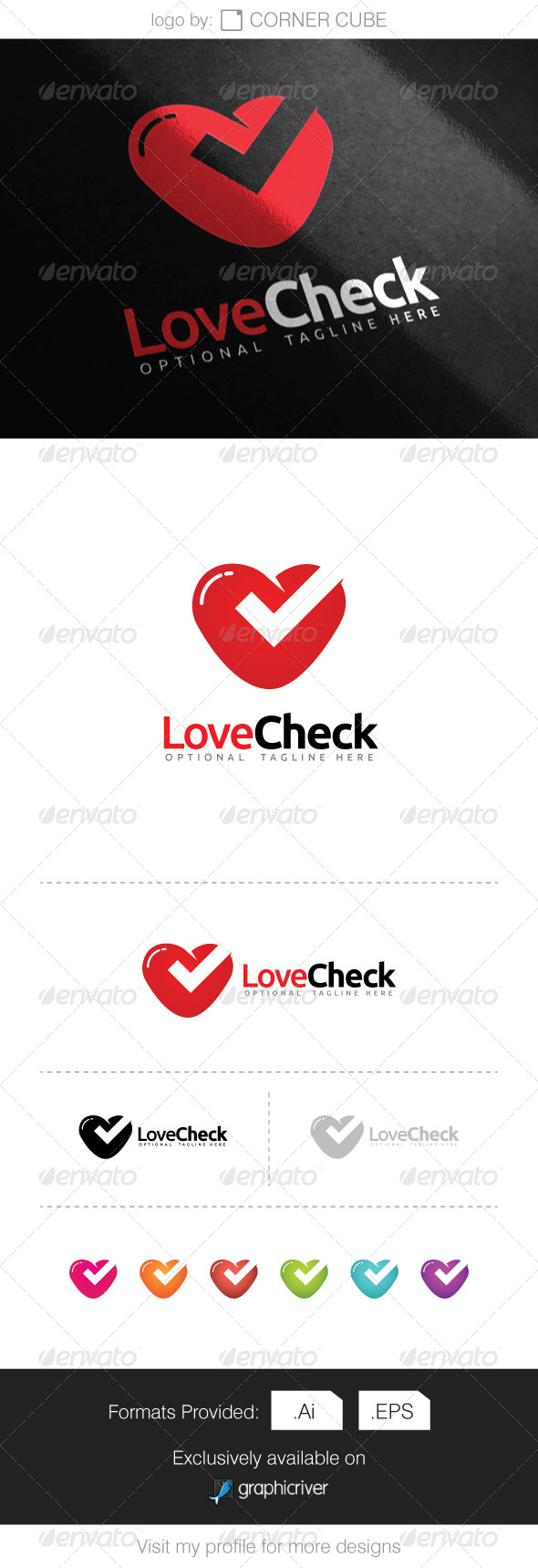 GraphicRiver Love Check Logo 8068102