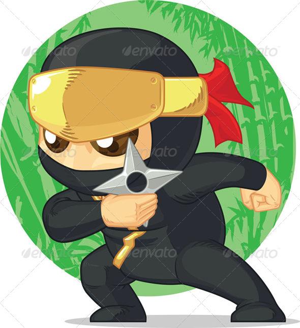 GraphicRiver Ninja with Shuriken 8068108