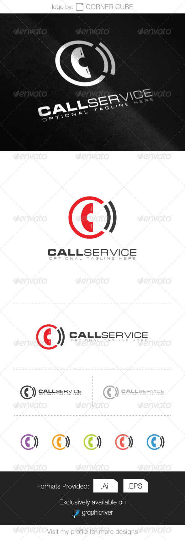 GraphicRiver Call Service Logo 8068109