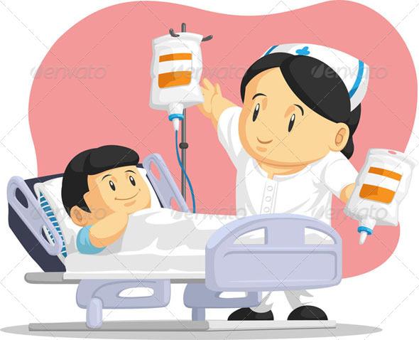 GraphicRiver Nurse Helping Child Patient 8068159