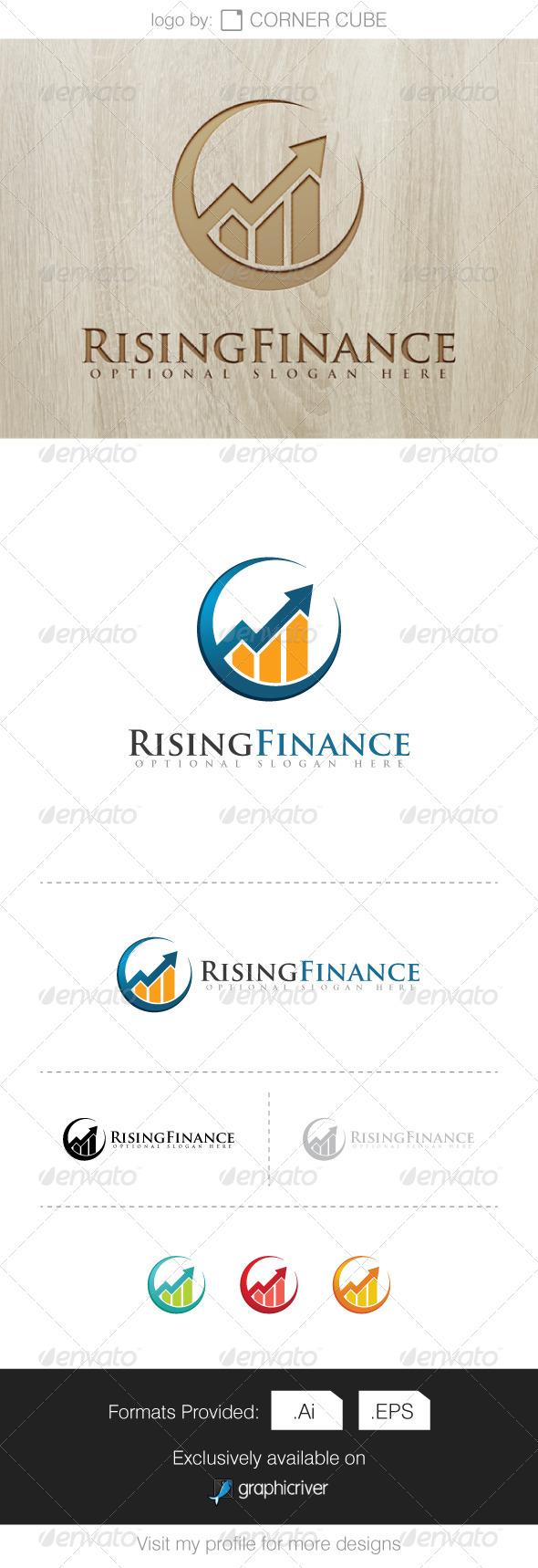GraphicRiver Rising Finance Logo 8068207