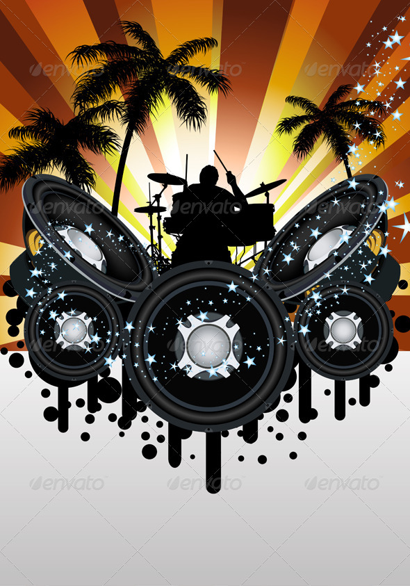GraphicRiver Grunge music style 8041009