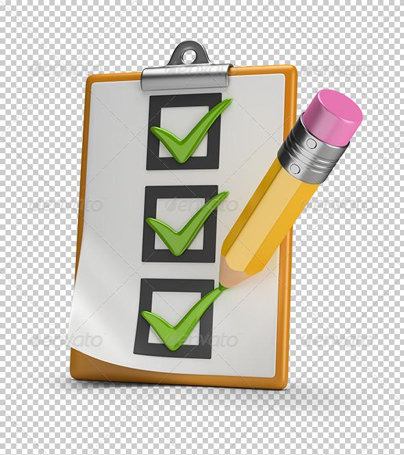 GraphicRiver Checklist and Pencil 7949329