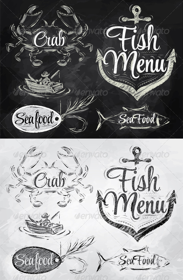 GraphicRiver Collection of Seafood and Fish Menu 8069950