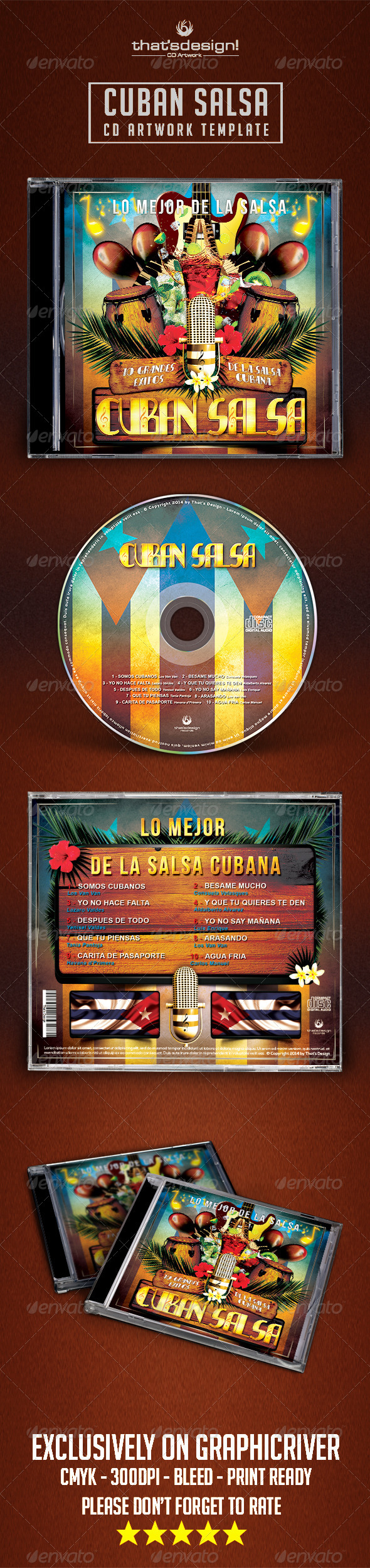 GraphicRiver Cuban Salsa CD Artwork Template 8070170