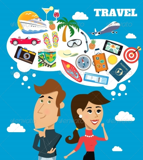 GraphicRiver Travel dreams scene 8070173