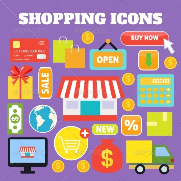 GraphicRiver Shopping Decorative Icons 8070178