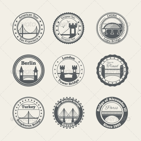 GraphicRiver Bridge Label Set 8070202
