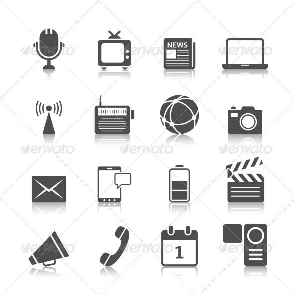 GraphicRiver Media Icons Set 8070203