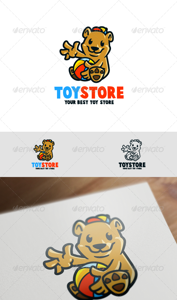 GraphicRiver Bear Cubs Mascot Logo 8070209