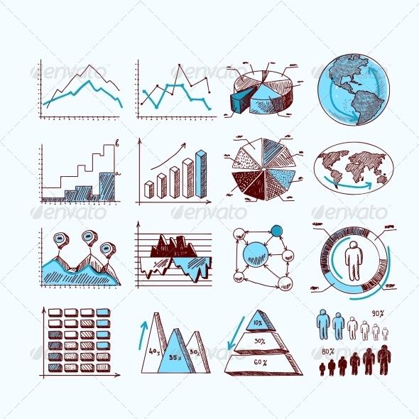 GraphicRiver Sketch Business Diagrams 8070210