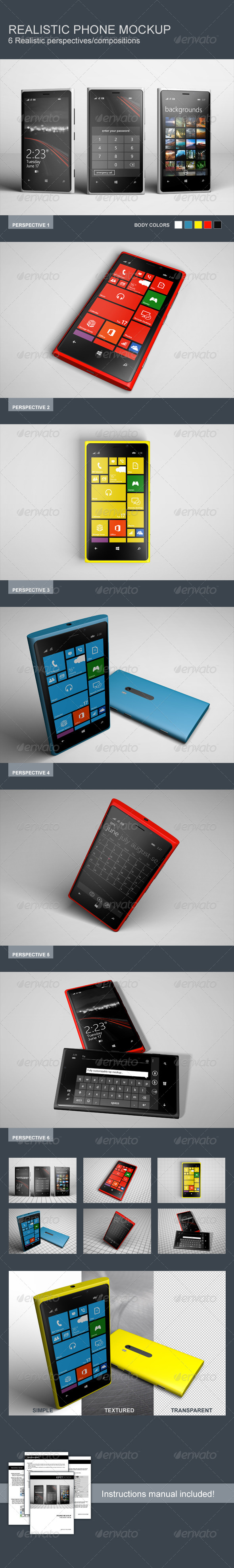 GraphicRiver Realistic Phone Mockup 8070217