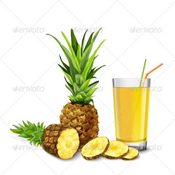 GraphicRiver Pineapple Juice glass 8070346