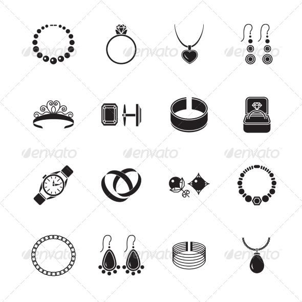 GraphicRiver Jewelry Icon Black 8070396