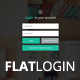 Flat Login and Register Forms PSD Template - GraphicRiver Item for Sale
