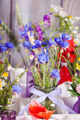 Wildflowers in bottles - PhotoDune Item for Sale