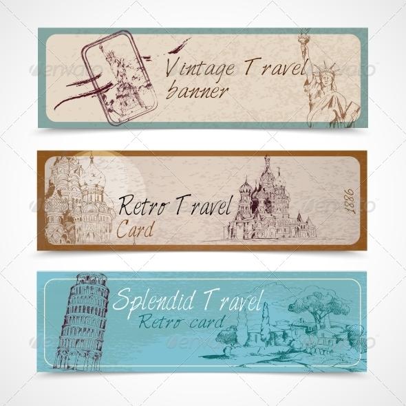 GraphicRiver World Landmark Banners 8070427