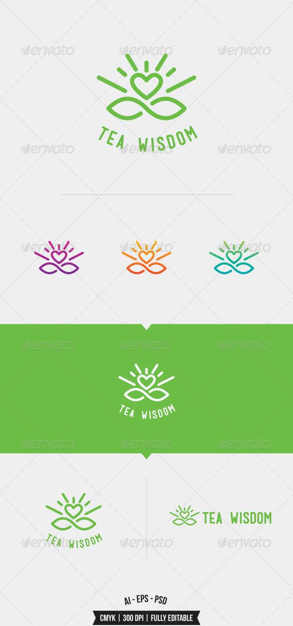 GraphicRiver Tea Wisdom Logo Template 8070437