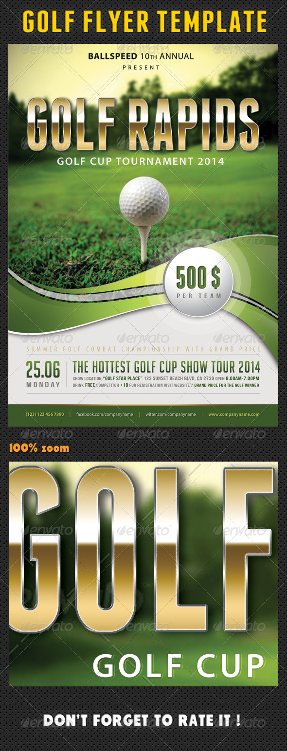 Golf Flyer Template 01 - Sports Events