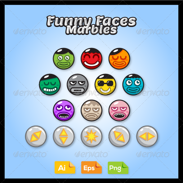 GraphicRiver Game Marble Faces 8070442