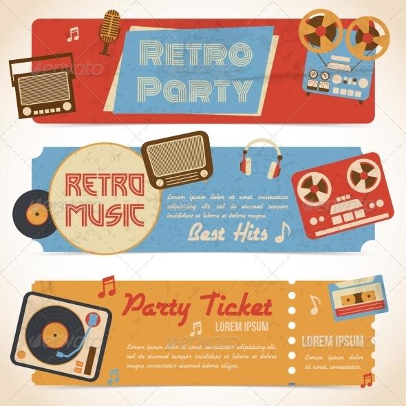 GraphicRiver Music Retro Banners 8070443