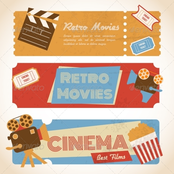 GraphicRiver Retro Movie Banners 8070446
