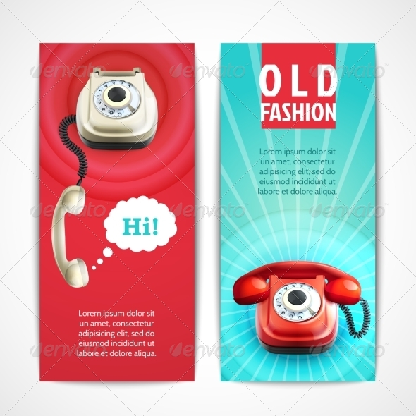 GraphicRiver Old Telephone Banners Vertical 8070453