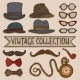 Vintage Hats and Glasses Set - GraphicRiver Item for Sale