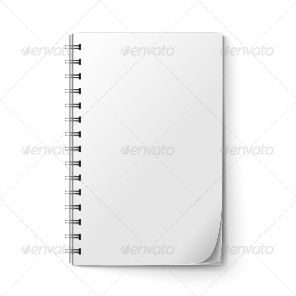 Realistic Notepad Blank