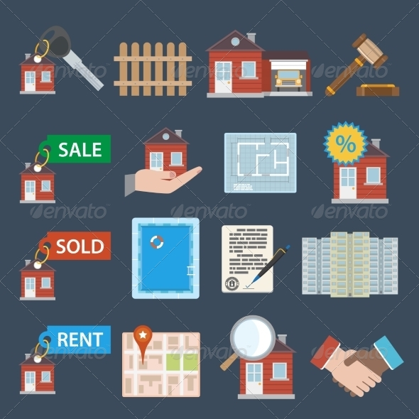 GraphicRiver Real Estate Icons 8070464