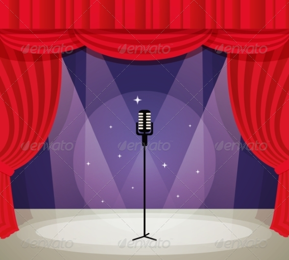 GraphicRiver Stage with Microphone 8070467