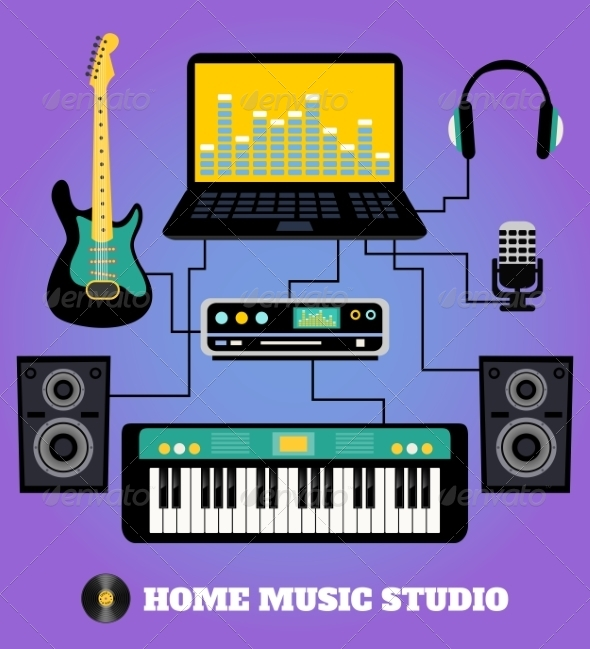 GraphicRiver Home Music Studio 8070477