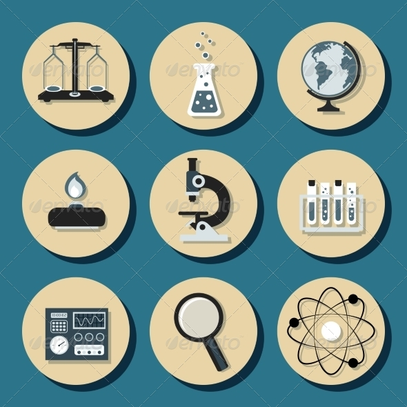 GraphicRiver Chemistry Flat Icons 8070482