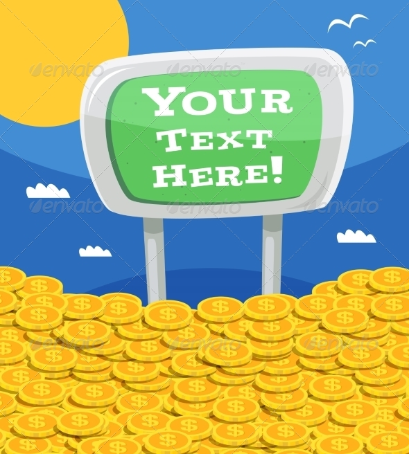 GraphicRiver Money Heap with Sign 8070489