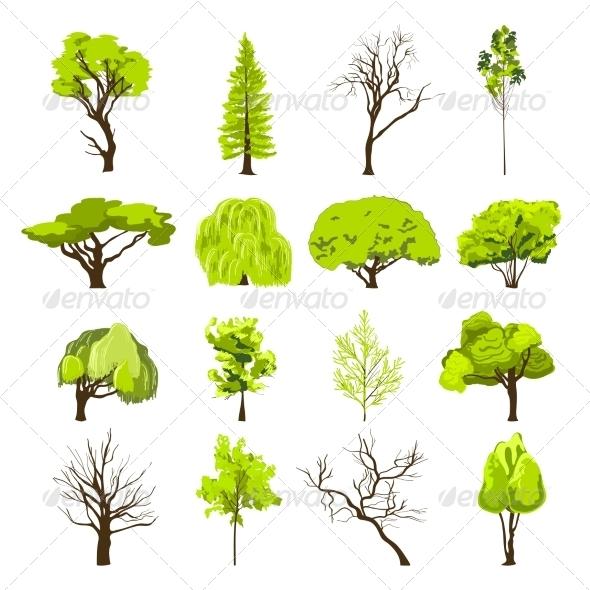 GraphicRiver Sketch Tree Icons Set 8070500