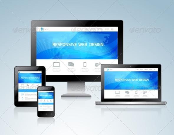 GraphicRiver Responsive Design Concept 8070533