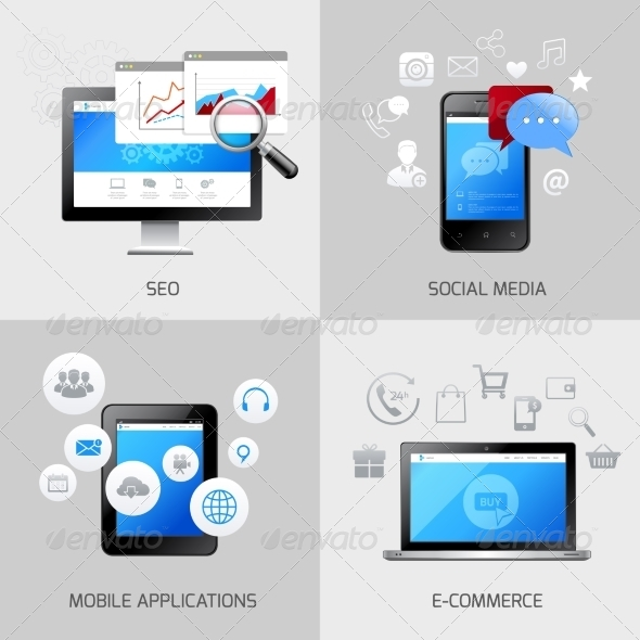 GraphicRiver SEO Web Mobile Concepts 8070534