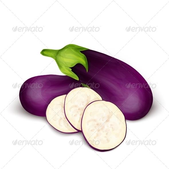 GraphicRiver Eggplant Aubergine Isolated 8070589