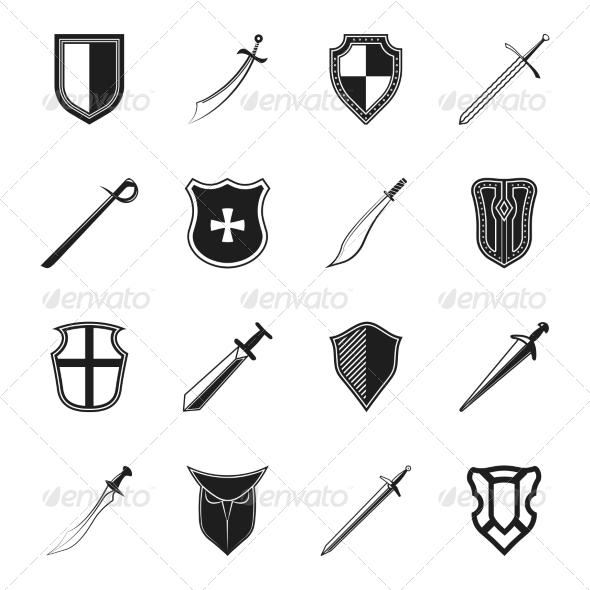 GraphicRiver Sword and Shield Icon 8070596