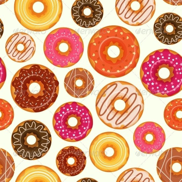 GraphicRiver Donut Seamless Pattern 8070620